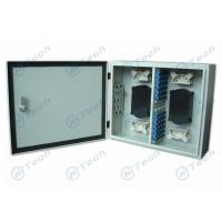 Quality 12-96 Cores Fiber Optic Distribution Box Cold Rolling Steel Material 48 Ports for sale