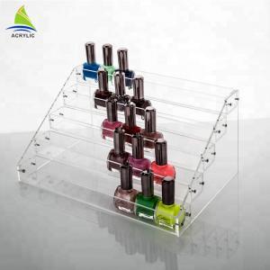 Quality Table Top Acrylic Tiered Display Shelves Hold Acrylic Nail Polish Display Rack for sale