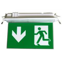 Quality Rechargeable LED Double - Side Emergency Battery Operated Exit Signage for sale