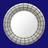 Quality 4029 Silver Tone Round Hinged Mirror Glass for Bathroom for sale
