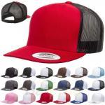 Quality Plastic Closure Mesh Trucker Hats Blank 5 Panel Colorful Snapback Cap Cotton Sweatband for sale