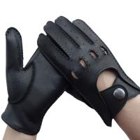 Quality Unisex Leather Driving Gloves Without Lining Comfortable Simple Classic Style for sale