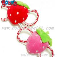 China Squeaky Stuffed Pet Toy Plush Strawberry Cotton Rope Toy on sale
