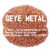 Quality 100% Pure Copper Mesh Scourers, Copper Scouring Pads, Knitted Copper Pan Scrubbers, Cleaning Balls for sale