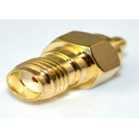 Brass MMCX RF Connector RF Coax Cable SMA Female To MMCX Male Adapter