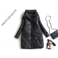 Quality Warm Fashion Long Womens Winter Jackets And Coats Flat Pack With Plastic Bag for sale
