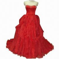 Quality Stunning Pleated Organza Ball Gown, Made of 100% Polyester for sale