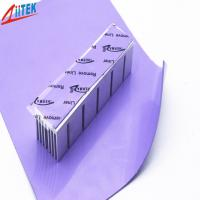 Buy cheap High conductivity 4w Thermal Conductive Pad 2mmT naturally tacky Silicone 55 psi Thermal Pad -50 to 200℃ for IGBTs from wholesalers