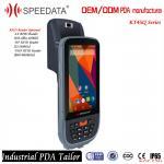 Quality Mobile Data Collection Handheld RFID Reader 125KHZ Fingerprint Reader Android for sale