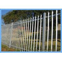 China Powder Coated D & W Steel Palisade Fence Black Finished Easily Assembled on sale