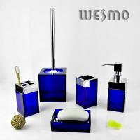 Quality Personalized Blue Plastic Complete Bathroom Set for sale