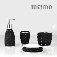 Buy cheap WBP0290A Black Polyresin Bathroom Set from wholesalers