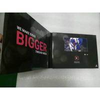 Buy cheap 2.4/4.3/5/7/10 Inch HD screen Video In Print Brochure , matte lamination color Cover product