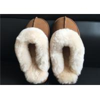 Quality Ladies Countess Sheepskin Slippers Chestnut Deluxe Ladies Sheepskin slipper brown for sale
