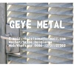 Quality Press Locked Aluminium Bar Grate Louvered Type, Sunshade Aluminum Louver Grating Sunscreen for sale