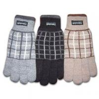 Quality 100% Acrylic Knitted Gloves with Jacquard Pattern for sale