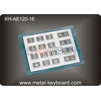 Buy cheap 16 Keys Stainless Steel Numeric keypad In 4x4 Matrix , Vandal proof product
