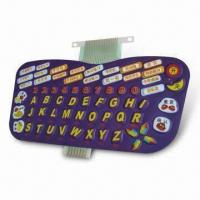 Buy cheap Membrane Keyboard with Open Circuit Resistance of > 10M Ohms from wholesalers