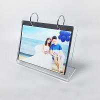 Quality L Shape Custom Clear Acrylic Photo Frame / Family Picture Frames for sale