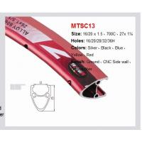 Buy cheap MTSC13 Road Aluminum Bicycle Wheel Ground, CNC Side Wall, Eyelets Finish Red from wholesalers