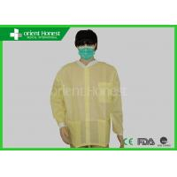 Quality SMS Yellow Medical Use Disposable Lab Coat  With Elastic Cuff And Pocket for sale