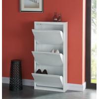 Quality Modern White Shoes Holder Cabinet , Metal Structure Shoe Rack Storage Cabinet for sale