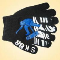 Quality Knitted Glove Made of 100% Acrylic, Available in Various Colors for sale