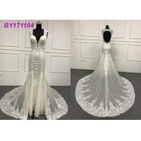 Beading Embroidery Appliques Mermaid Style Wedding Dress For Tall Ladies 80cm Tail
