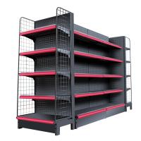 Buy cheap Double Side Supermarket Display Shelving Cold Rolled Steel Material White Color from wholesalers