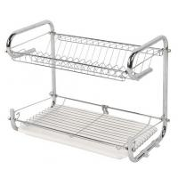 Buy cheap Wire Stainless Steel Dish Drainer , Customized Color Kitchen Dish Drying Rack product