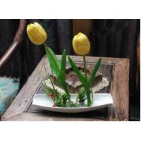 China Artificial flowers black tip ship on sale
