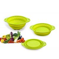 Buy Colorful Folding 100% Eco-friendly fruit / vegetable silicone fruit basket at wholesale prices