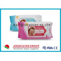 Quality Baby Wet Tissue Wipes / Individual Flushable Moist Wipes for Travel for sale