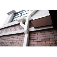 K Type AES Resin Roof Rain Gutter Dark Brown For Roofing Water Carrying