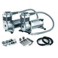 Quality Fast Inflation Silver Steel Dual Air Suspension Compressor  for car 4.5 CFM 150PSI for sale