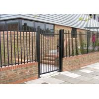 Buy cheap Black Powder Coated Backyard Metal Fence , Metal Security Fencing For 3 Rails from wholesalers