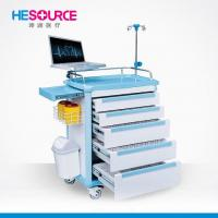 China Mobile ABS Emergency Cart,, Hospital Ward Crash Trolley With Drawers on sale