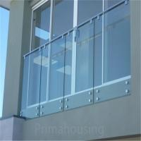 China frameless balcony glass railing standoff stairs on sale
