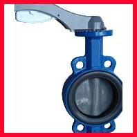 China Hand Manual Three Way Butterfly Valve / Wafer Type Butterfly Valve on sale