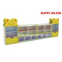 Quality Colorful Melamine Board Kindergarten Classroom Furniture Children Book Cabinet for sale