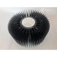 Quality Custom aluminum CNC machined 230mm big size LED round heat sink extrusions for sale