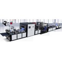 Buy cheap Full Auto Non-woven Flat Bag Making Machine With Online Handle Attaching And Three Rolls Unwinding product