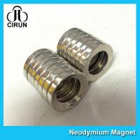 Quality Multipole Radial Magnetization Neodymium Magnets Ring Shaped for Speaker for sale