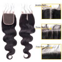 China No Shedding Peruvian Virgin Hair 4 X 4 Lace Closure Hair Extensions Body Wave For Ladys on sale