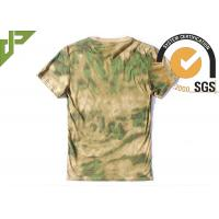 Quality Short Sleeve Multicam Tactical T Shirts 100% Cotton Breathable For Men for sale