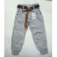 Quality Ladies Printed Check Pants With Belt -288 for sale