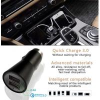 Buy cheap Dual Usb Car Charger 5V 2.4A Style Quick Charger 3.0 For Mobile Products product