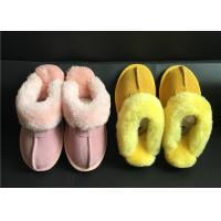 Quality Tan Suede Sheepskin Slippers Winter Women Chestnut Classic Sheepskin Slippers for sale