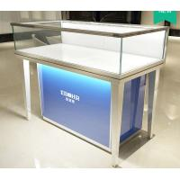 Quality Aluminum Alloy Frame Mobile Jewelry Store Showcases Lighted Jewelry Display Case for sale