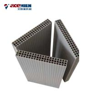 Concrete Wall Extrusion Machine , Hollow Plastic Concrete Formwork Machine